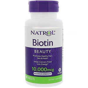 Natrol - Biotin 10,000 mcg Maximum Strength 100 Tablets