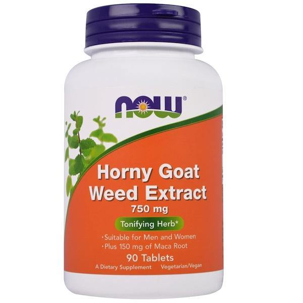 Now Foods Horny Goat Weed 750 mg, 90 Tablets