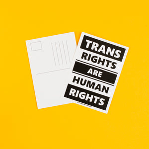 Trans Rights Are Human Rights – A6 postcard