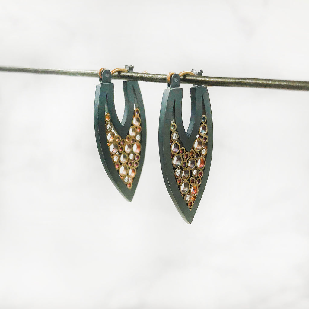 Belle Brooke - Leaf Hoop Earrings