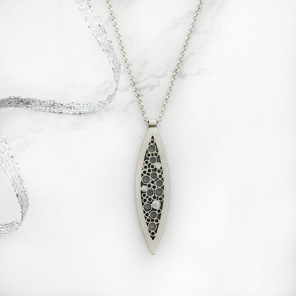 Belle Brooke - Long Leaf Pendant