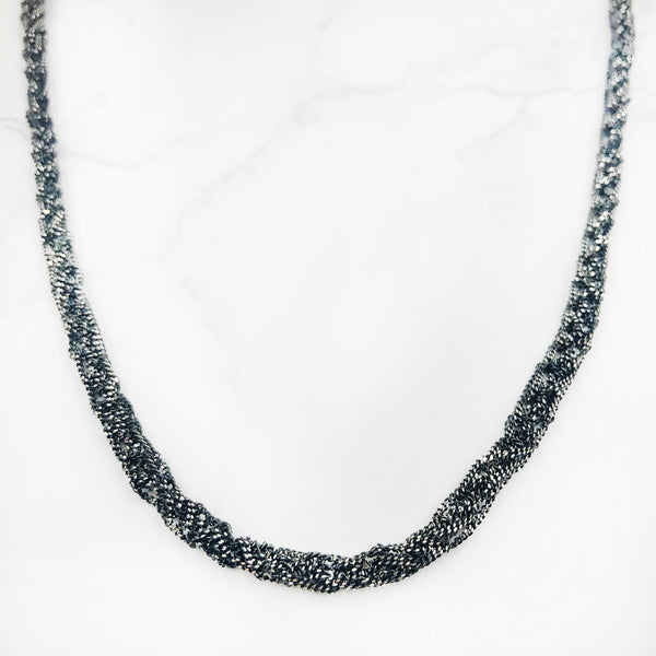 Ewa Jankowska - Long Oxidized Necklace