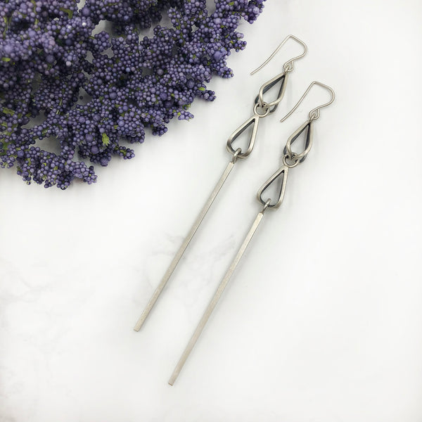 Emily Shaffer - Double Bulb Bar Earrings