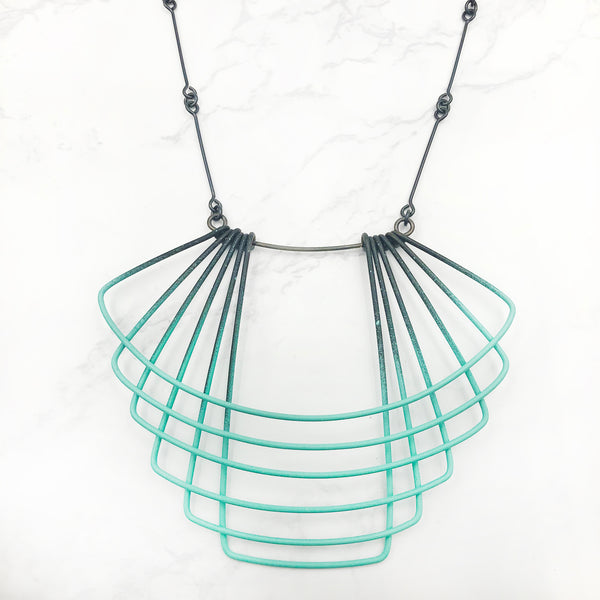 Jera Lodge - Aqua Deco Necklace