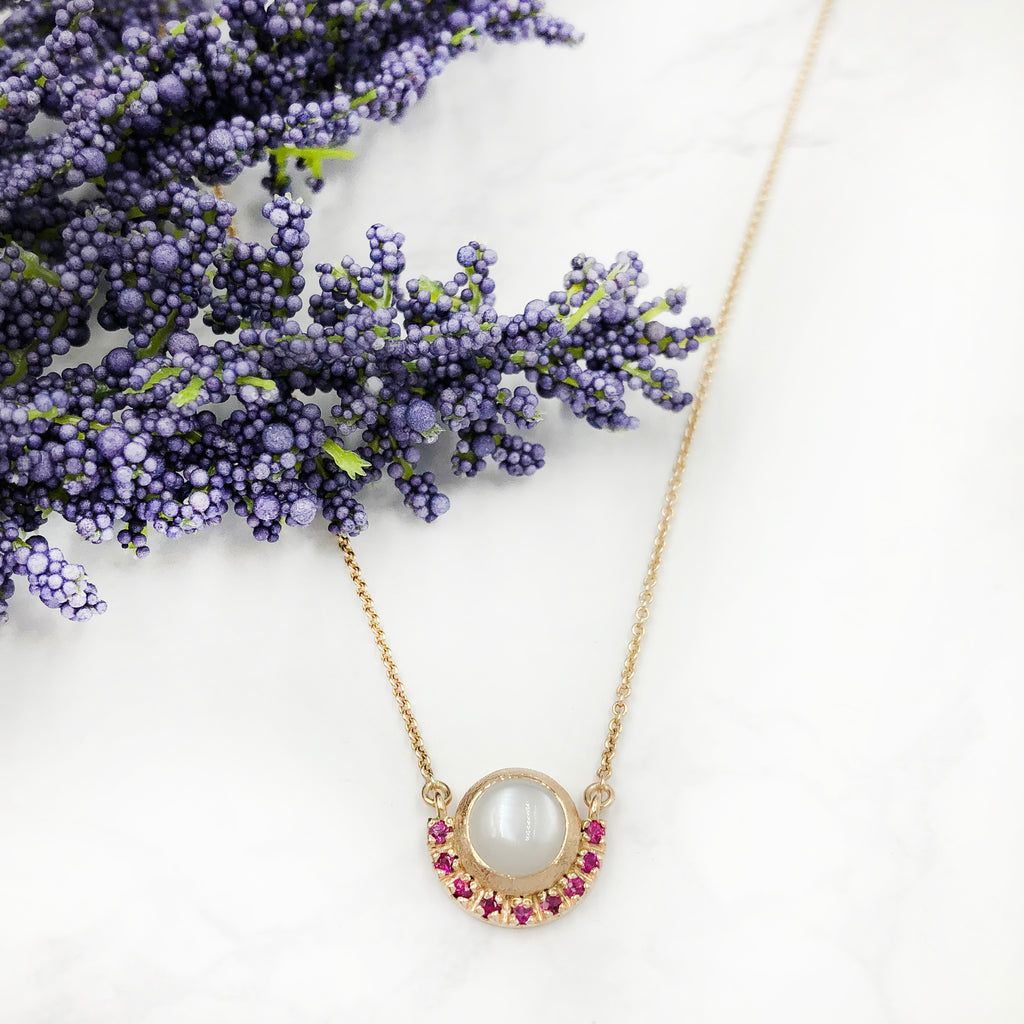 Justin Brown - White Moonstone Pendant