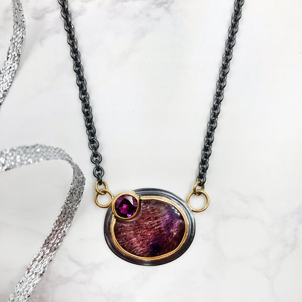 Ryan Gardner - Quartz, Garnet and Ruby Pendant