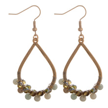 Earth Tone Beaded Teardrop Earrings