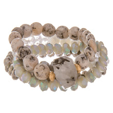 Speckled Stone Stack Bracelet Set