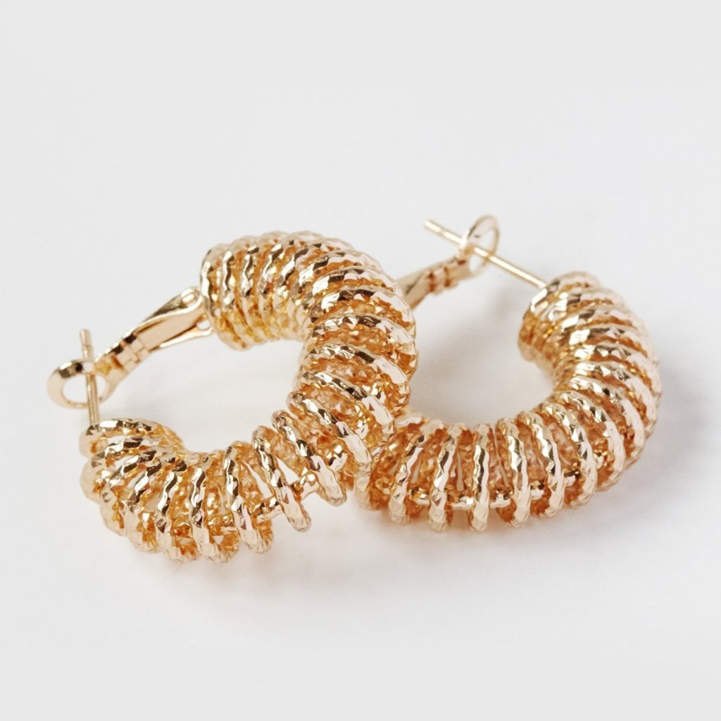 Spiral Hoop Earrings Yellow
