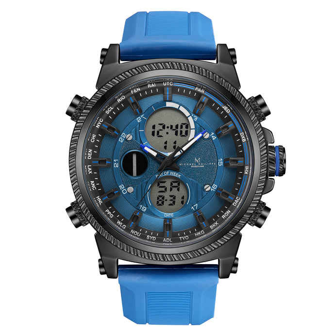Adventurer | 48mm<small><br>Elite Silicone<br>Ocean Blue</b></small><center>