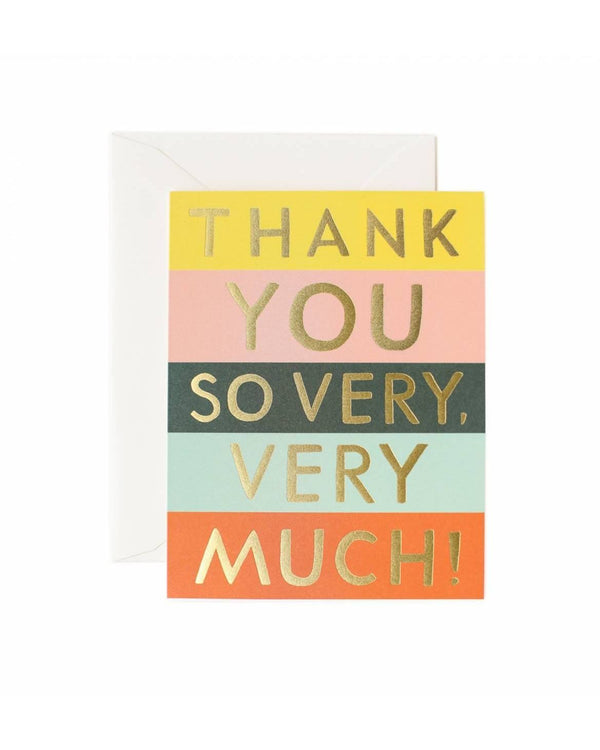 Colour Block Thank You Card