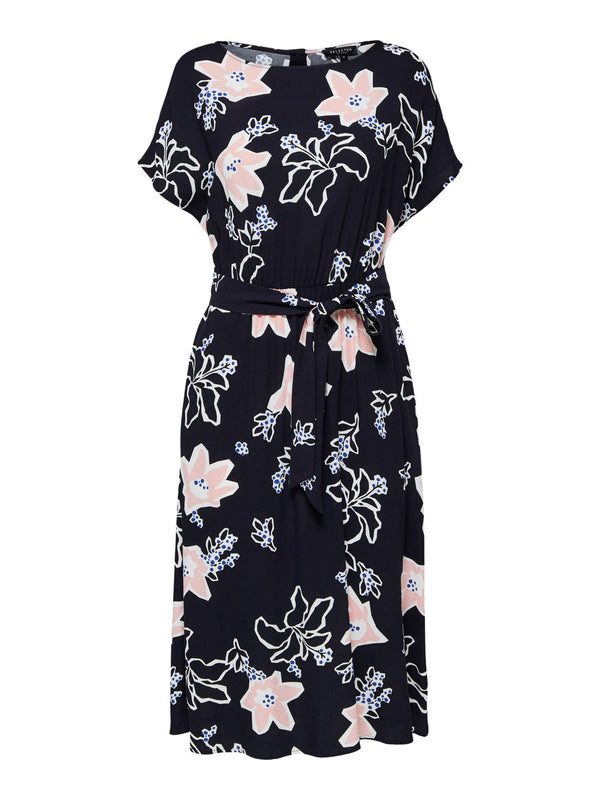 SLFRinna Navy Floral Print Dress