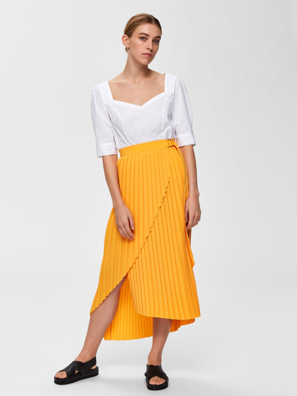 SLFMelly Pleated Wrap Skirt