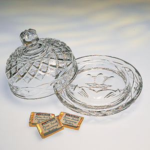 Claddagh Crystal Butter Dish