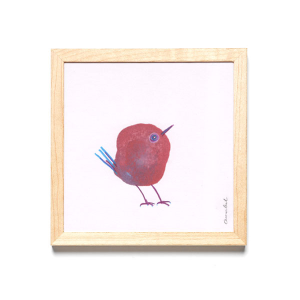 INKDROP BIRD NO.029 - GARNET RED & VIOLET - ORIGINAL DRAWING
