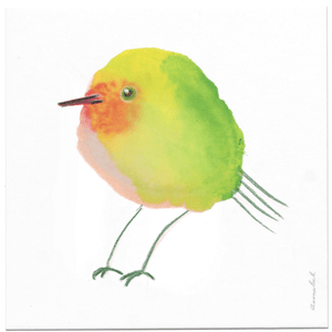 INKDROP BIRD NO.061 - TODUS - GREEN, YELLOW & RED -  ORIGINAL DRAWING