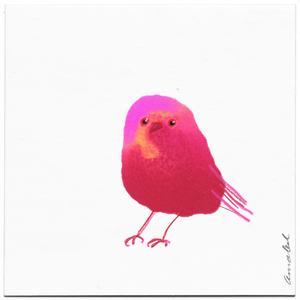 INKDROP BIRD NO.066 - NEON PINK & CRIMSON  - ORIGINAL DRAWING