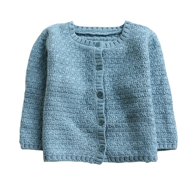 Baby Winter Girls Knitted Cardigan Sweaters Outerwear