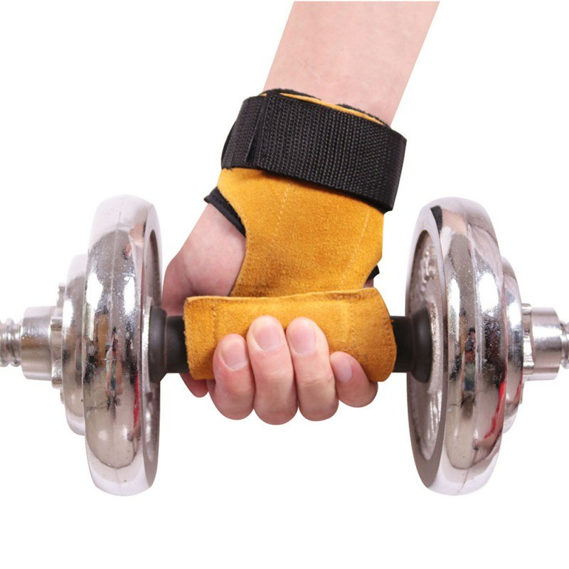 Leather care palm fitness protection palm equipment non-slip wear-resistant wristband hard pull grip belt wrist support
