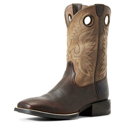 Ariat Men's Sport Ranger Barley Western Boot - Wide Square Toe - 10029633