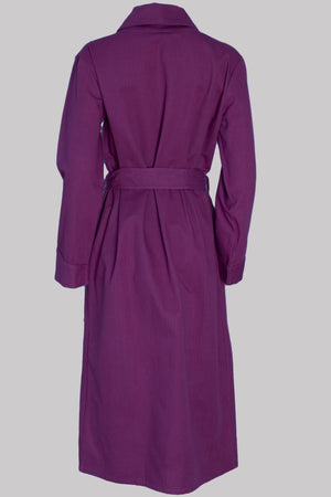 DRESSING-GOWN Colour & Piping       100%ᴾᵁᴿᴱ COTTON herringbone-thick       BURGUNDY       Paris 1924 Olympics