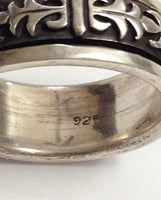 Vintage Sterling Silver Spinner Ring
