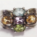 Vintage Sterling Silver Mothers Birthstone Ring