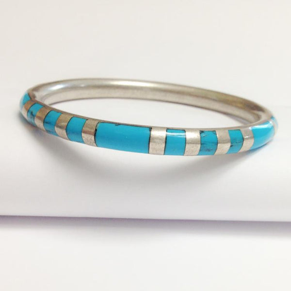 Taxco Turquoise Sterling Bracelet