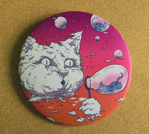 3.5 Inch Magnet: Bubble Cat - Sunset