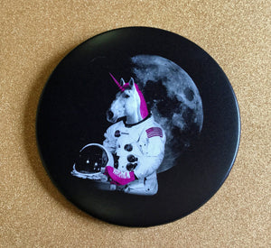 3.5 Inch Mirror: Astronaut Unicorn - Color