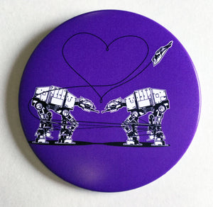3.5 Inch Magnet: Love AT-AT First Sight - Purple