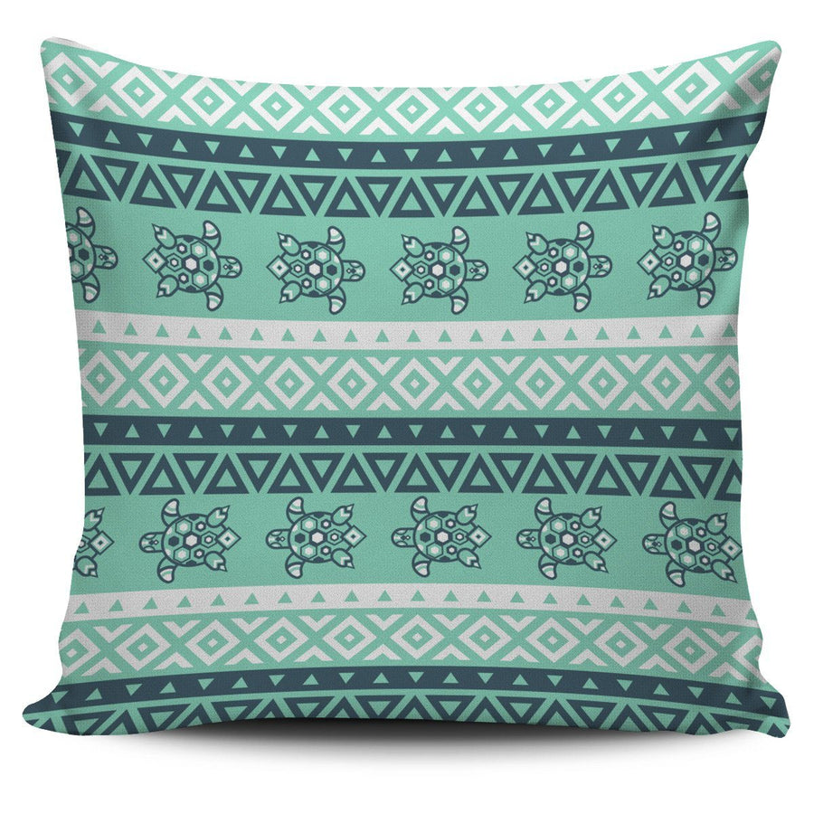 Tribal Sea Turtle - Pillow Cover