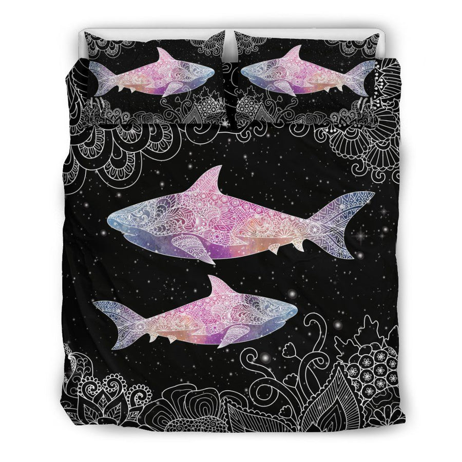 Galaxy shark - Bedding Set - the ocean vibe Ocean Apparel