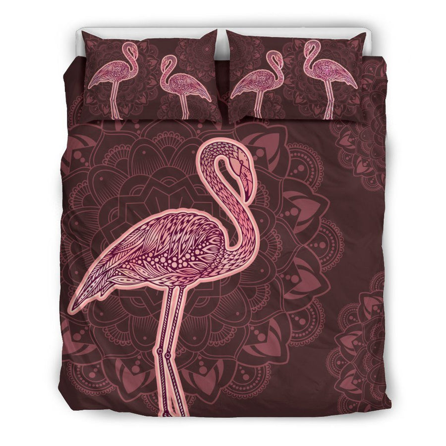 Flamingo Pink - Bedding Set - the ocean vibe Ocean Apparel