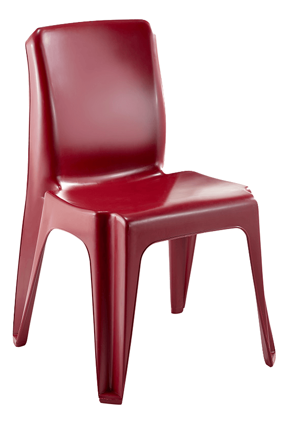 Maxi Chair Virgin Plastic Burgundy - SPECIAL (R107.00 For 100 & Over)