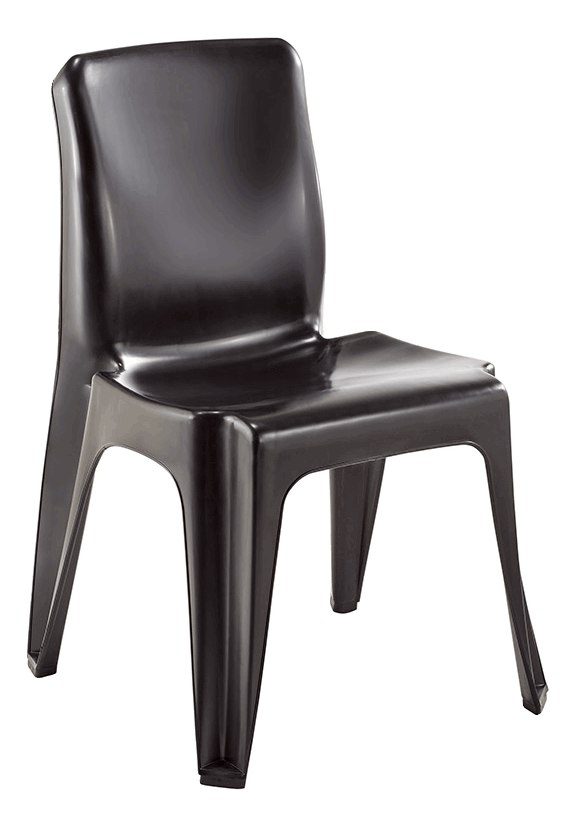 Maxi Chair Virgin Plastic Black - SPECIAL (R107.00 For 100 & Over)