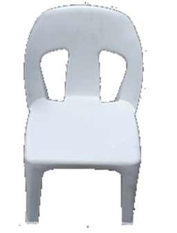 Africa Chair White Heavy Duty