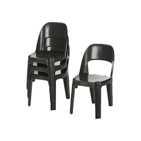 Alpine Chair Recycled Plastic Black Only - 450 Height
