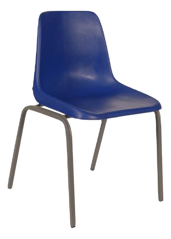 Polyshell Chair Virgin Plastic Blue - SPECIAL (R110.00 For 100 & Over)