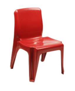 Maxi Chair Virgin Plastic Red - SPECIAL (R107.00 For 100 & Over)