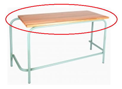 Saligna Double Desk / Tops ONLY