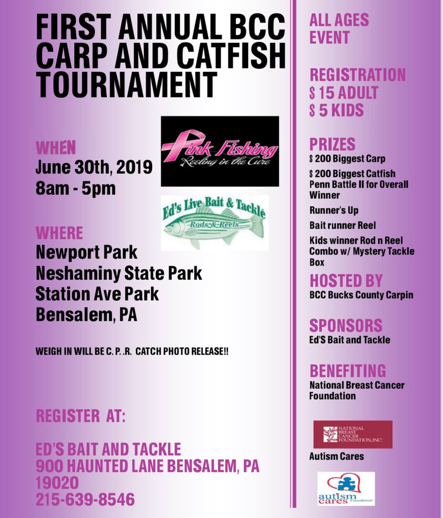 1st Annual BCC Carp and Catfish Tournament (June 30, 2019)