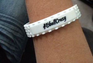 #BballCrazy band-White