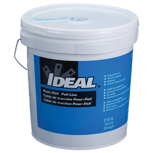 Ideal 31-340 Powr-Fish Pull Line in a Bucket, 210lb. x 6,500'