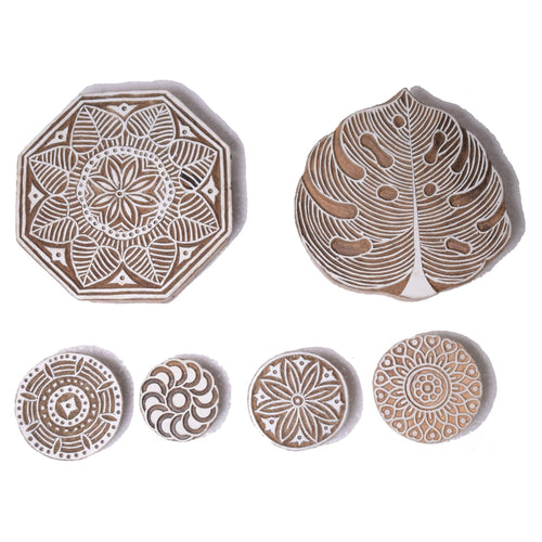 2 Big Size 4 Small Size Wooden Printing Stamps