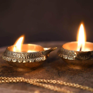 Brass Oil Lamp Diya - Oil Diya & Lamp