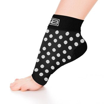go2 ankle compression sleeve black and white