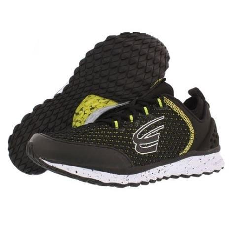 spira phoenix men's running shoe black / neon/ white