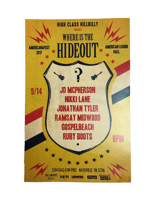 2017 Hideout Poster