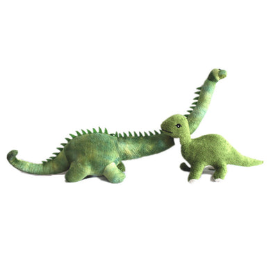 Green Long Neck Brontosaurus Dinosaur Plush Toy - Dinosaur Themed Gifts & Accessories